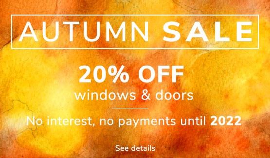 Save 20% on fiberglass windows and doors