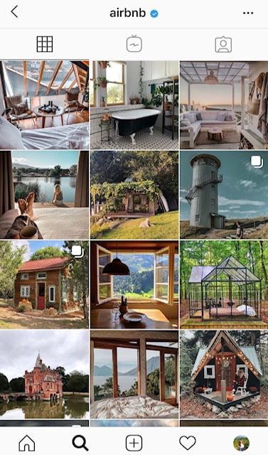 Airbnb User Generated Content Instagram