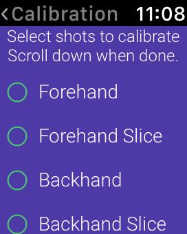 Calibration shot selector