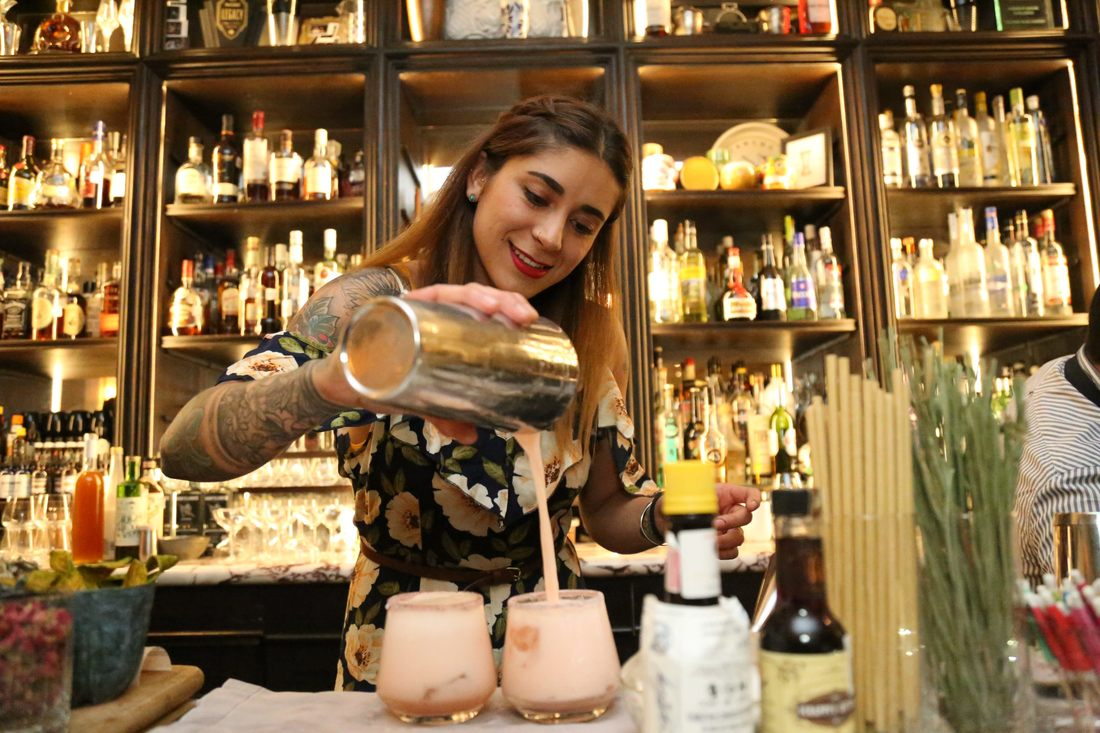 World famous bar Fifty Mils is a cool place to see in Mexico City