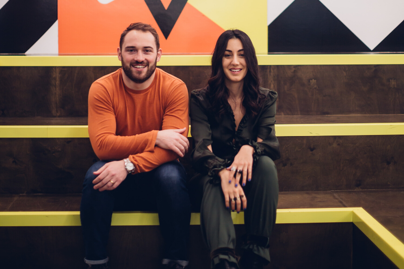 Gaby Hersham & Andrew Lynch, Huckletree Co-Founders