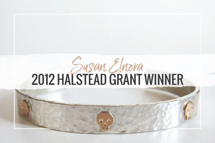 Susan Elnora has won the 2012 Halstead Grant. Her linear depiction of the fading American mythology creates a unique line of jewelry for your collection.