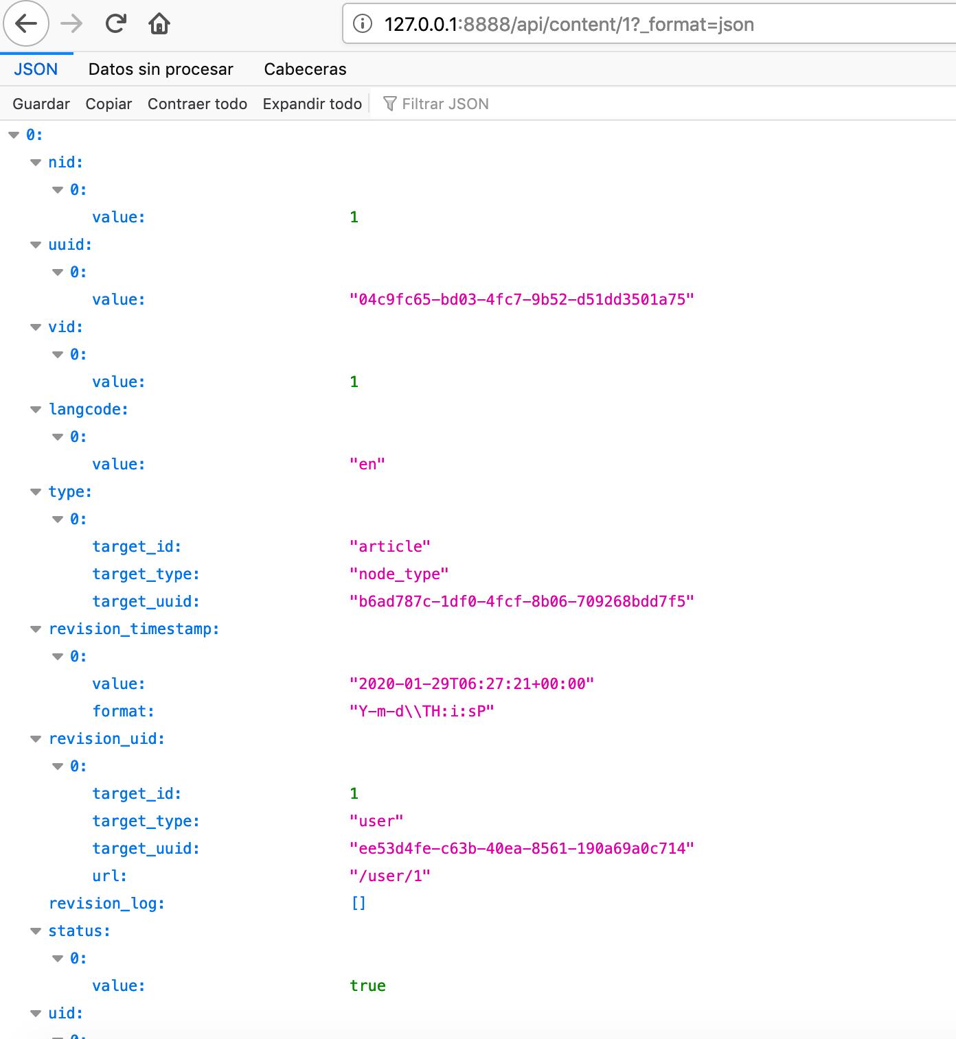 Drupal REST API JSON response 2