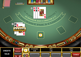 Cabaret Club - Blackjack table