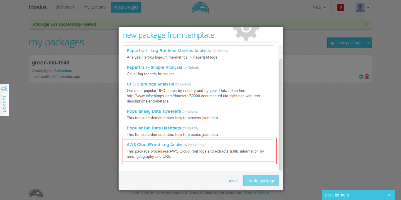 Create a Package Using the Template