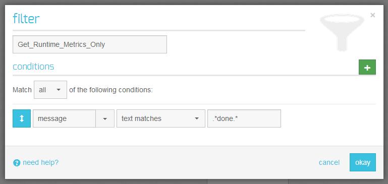 xplenty-papertrail-filter.PNG