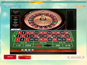 777 - roulette table