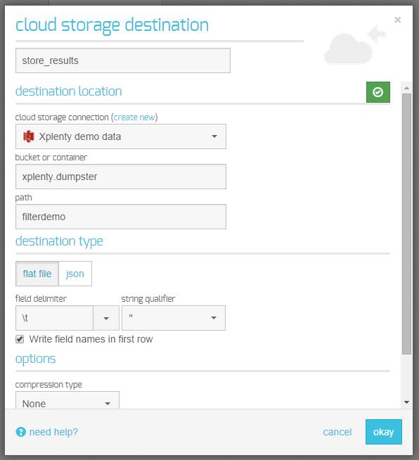 cloud storage destination