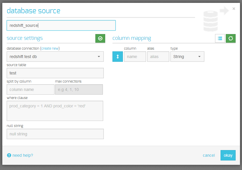 database source