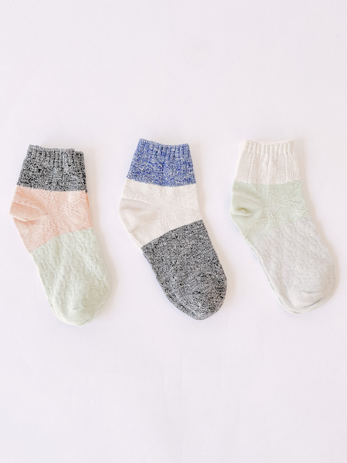 Upcycled Colorblock Sock 3 Pack