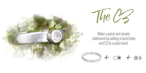 Add a CZ to a plain ring band