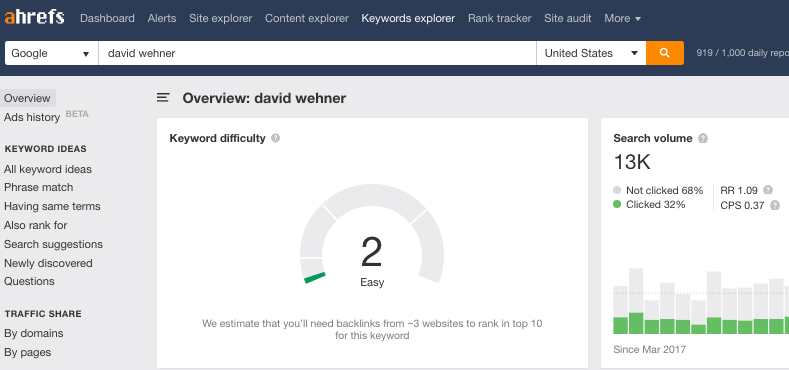 david wehrer searchs