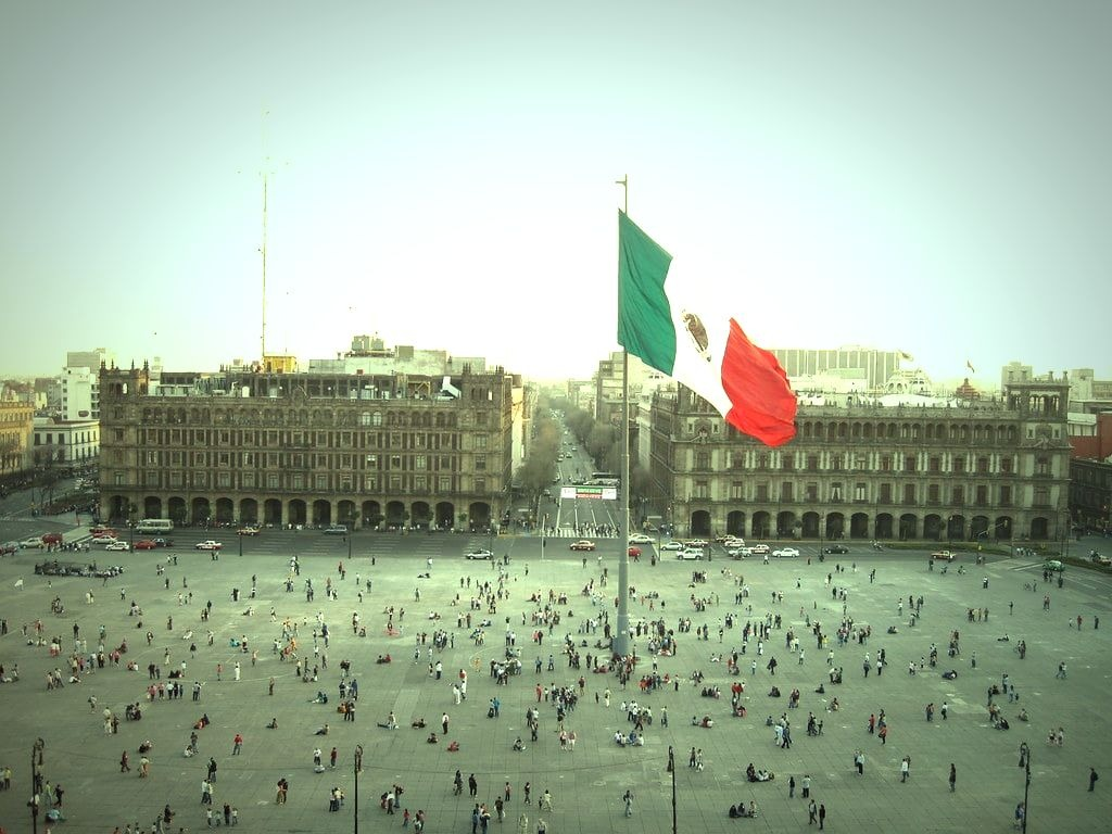 People watching in El Zocalo is a great thing to do in Mexico City