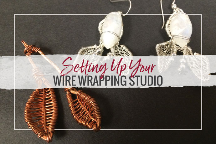 How do you set-up a wire wrapping studio? From setting up your work area to basic supplies, we cover a lot of information in this article.