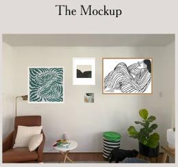 mock up of living room frames