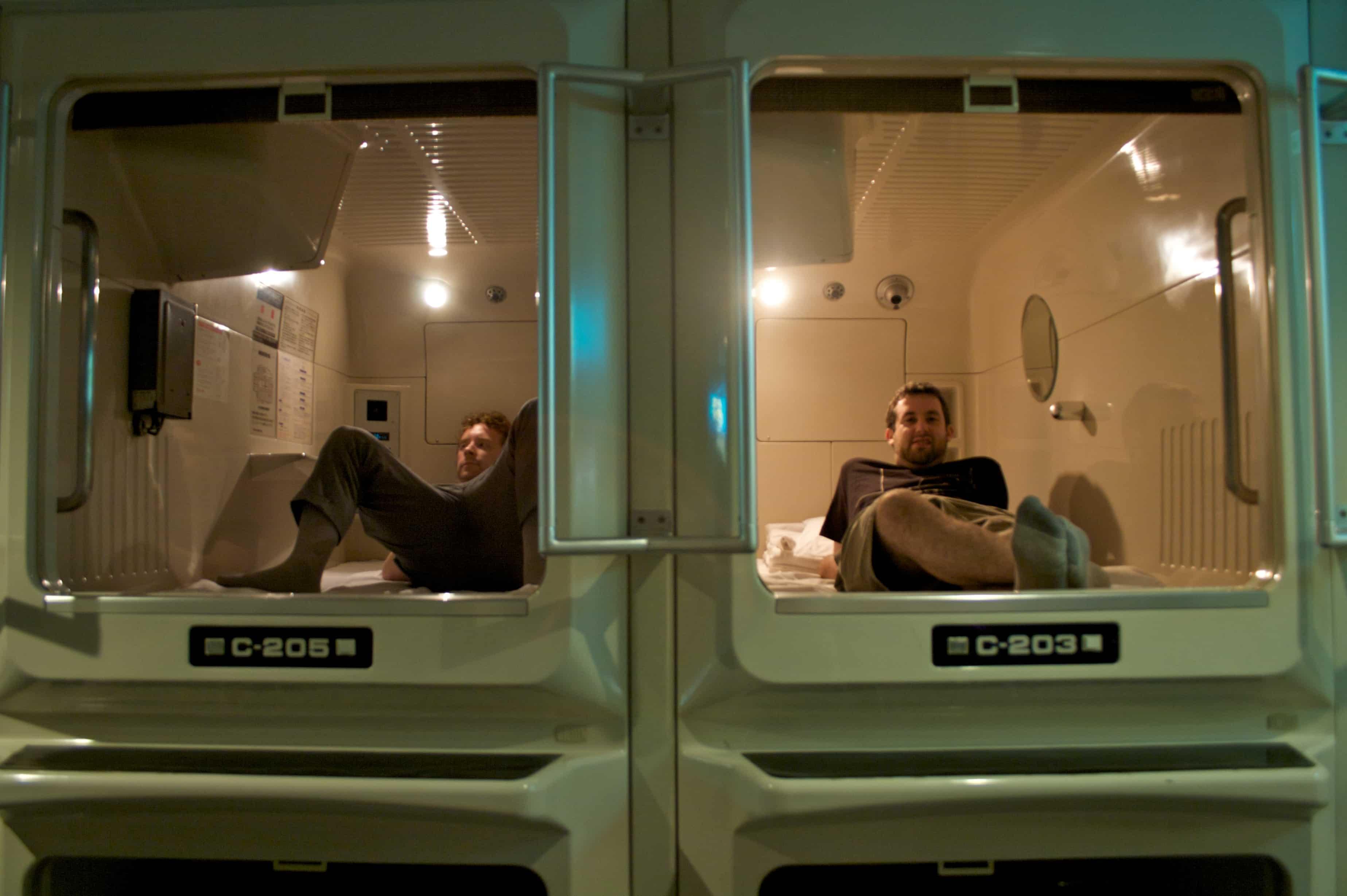 Capsule hotel must do in Tokyo Japan