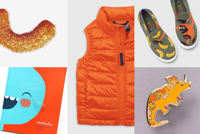 primary grid of orange gift items