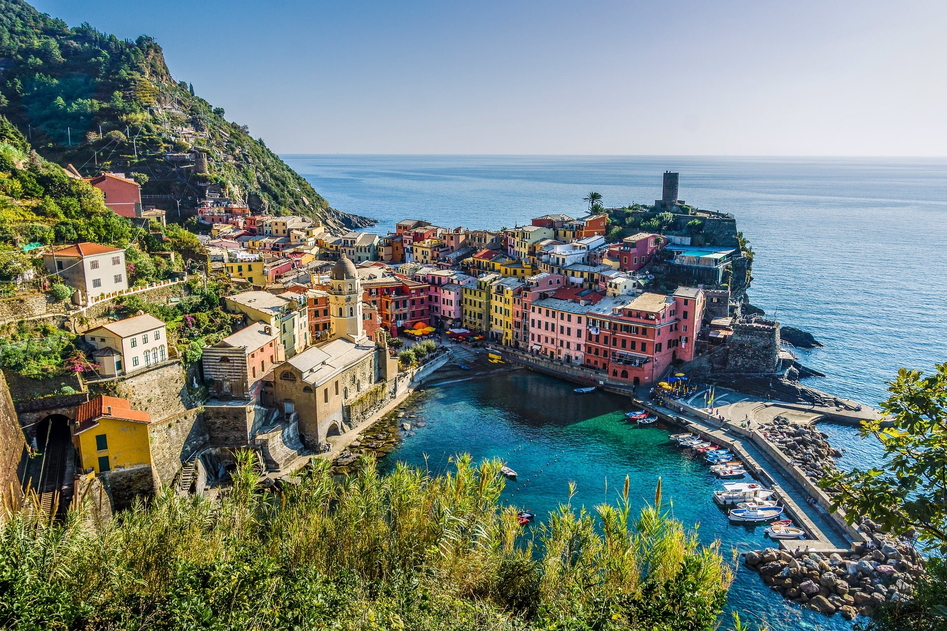 Gorgeous Cinque Terre is where to stay in Italy if you're looking for lovely nature