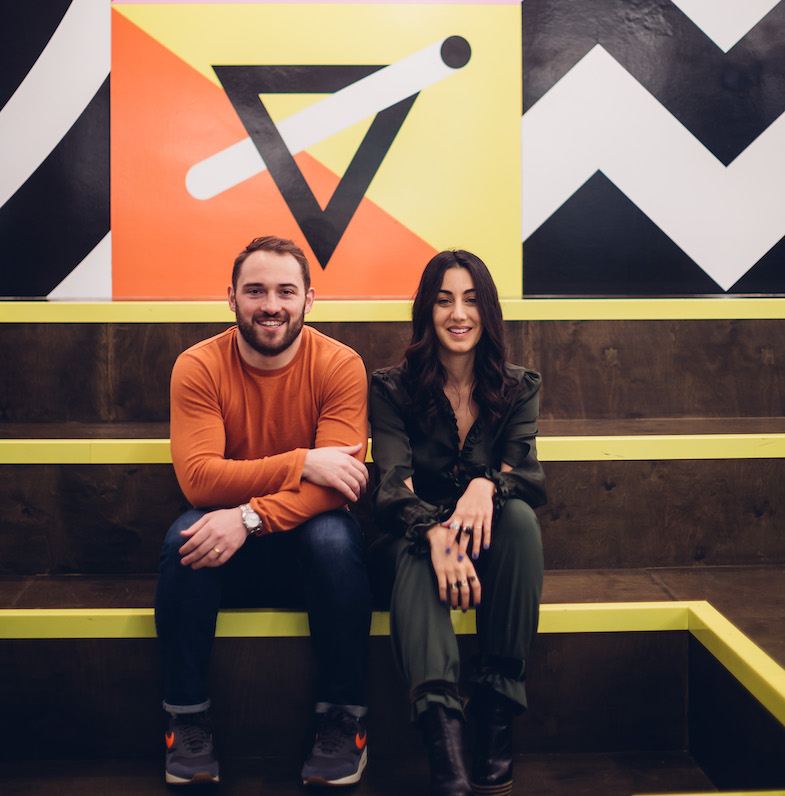 gaby and andrew huckletree cofounders