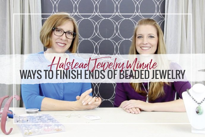 Watch Hilary and Katie Hacker finish beaded jewelry using crimp, crimp covers and cable thimbles!