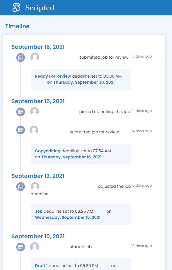 scripted Timeline