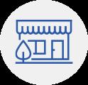 Ícone com o desenho de uma loja