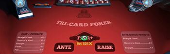 Liberty Slots Tri Card Poker