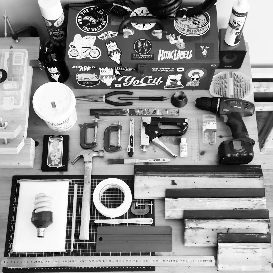 A screen printer's tool kit