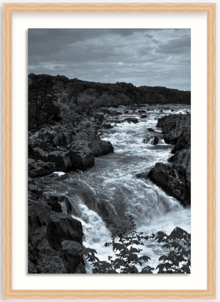 photo of Great Falls in wood frame