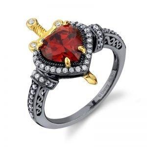 Snow White Dagger Heart Ring