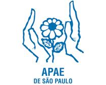 Ilustração logo APAE - mãos segurando uma flor.