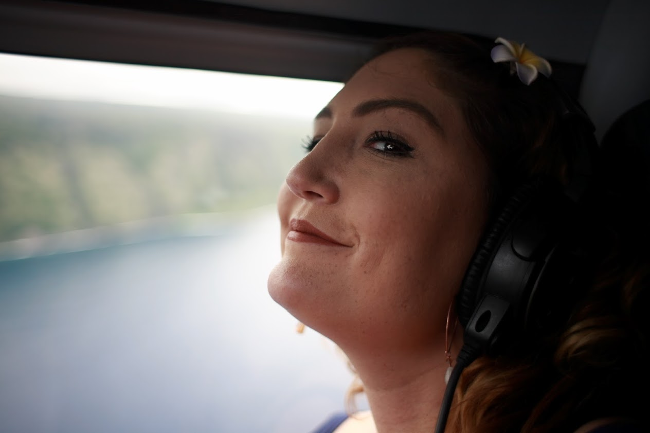 Molly Wolchansky takes her first ever helicopter ride.