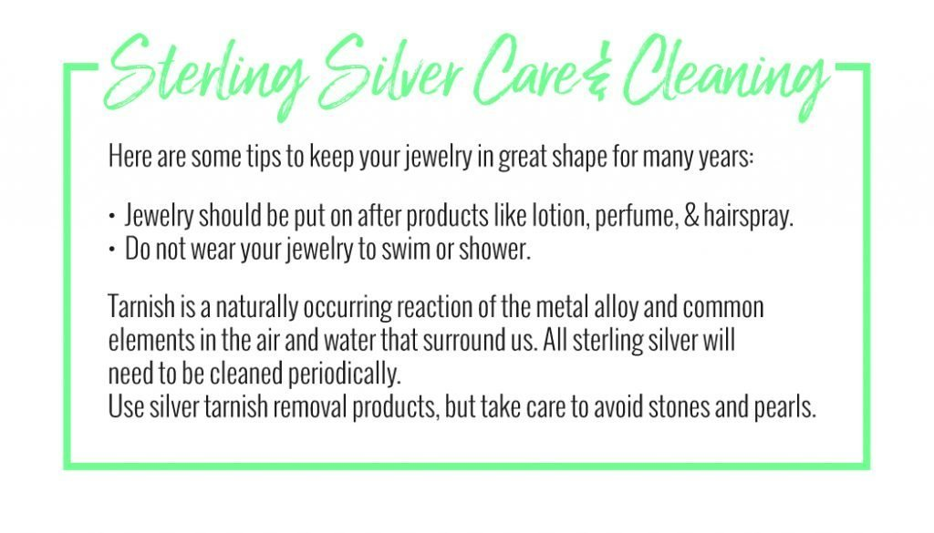 Sterling silver care and cleaning chart