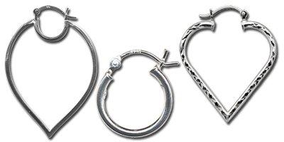 Hinged hoop earring findings