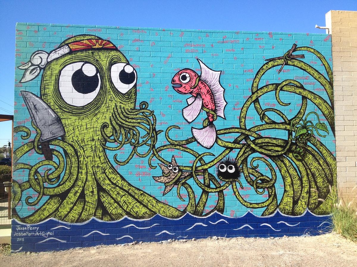 Roosevelt Row in Pheonix art mural