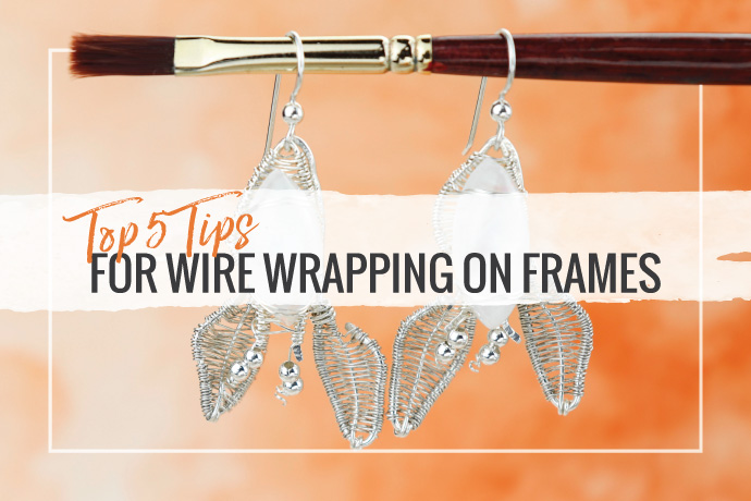 Wire wrapping on frames is a basic wirework jewelry making technique you can learn in an hour and continue playing with for years.