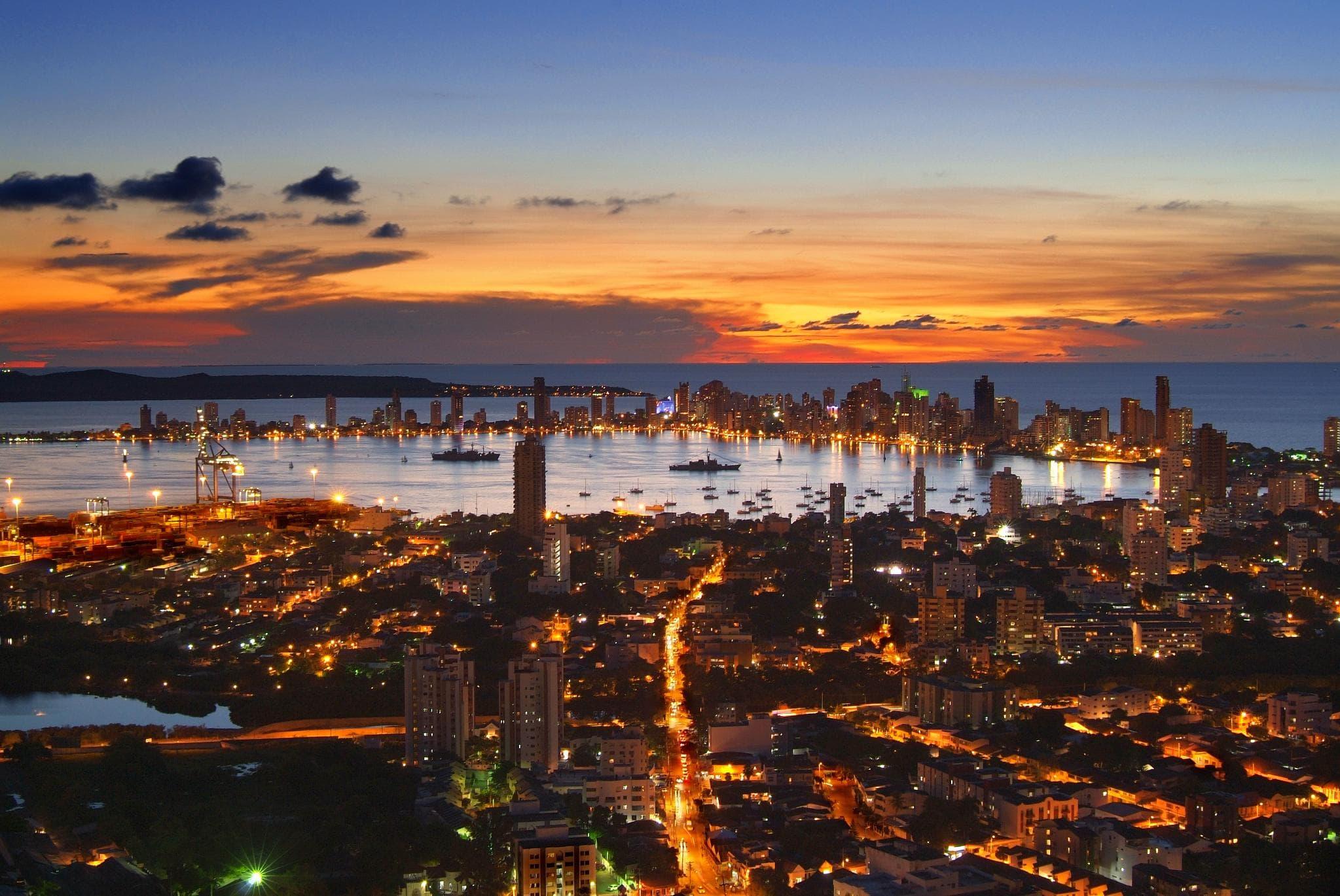 colombia cartagena nightlife cityscape