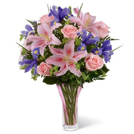 iris and pink lily mixed flower bouquet and where what is an iris flower