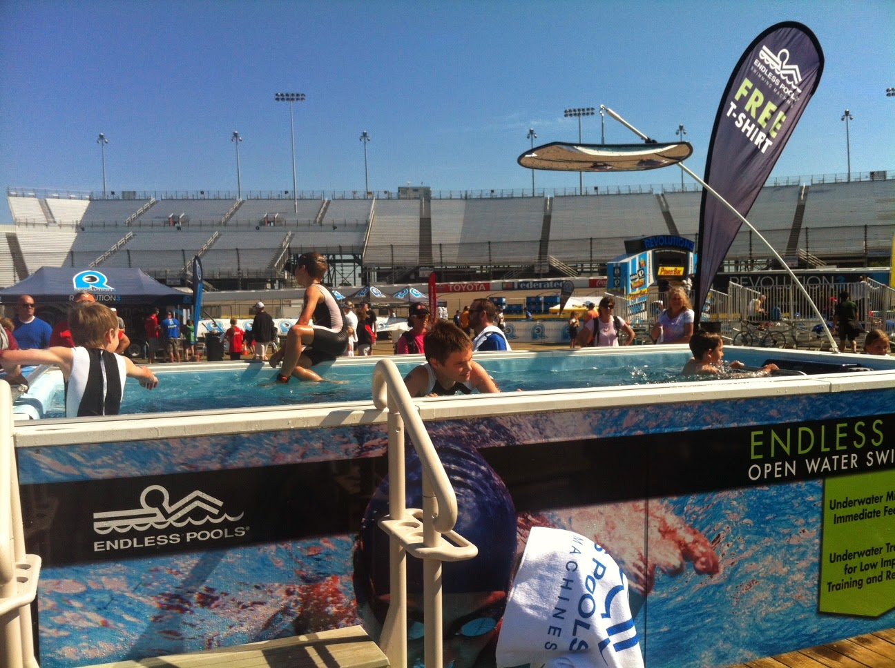 The Performance Endless Pool at the REV3 Triathlon in Richmond, Virginia