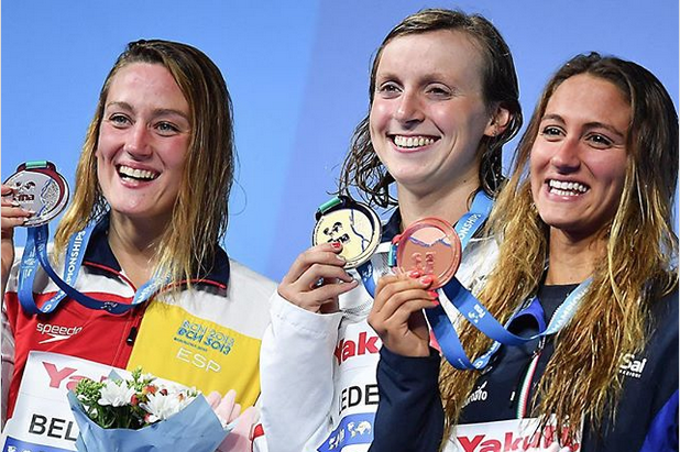 Katie Ledecky 12th world championship gold