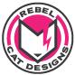 Scaled down Rebel Cat Designs emblem logo