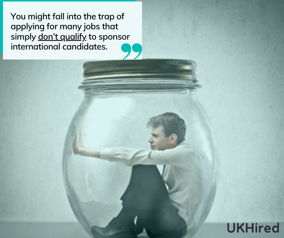 some jobs simply simply don't qualify to sponsor international candidates.