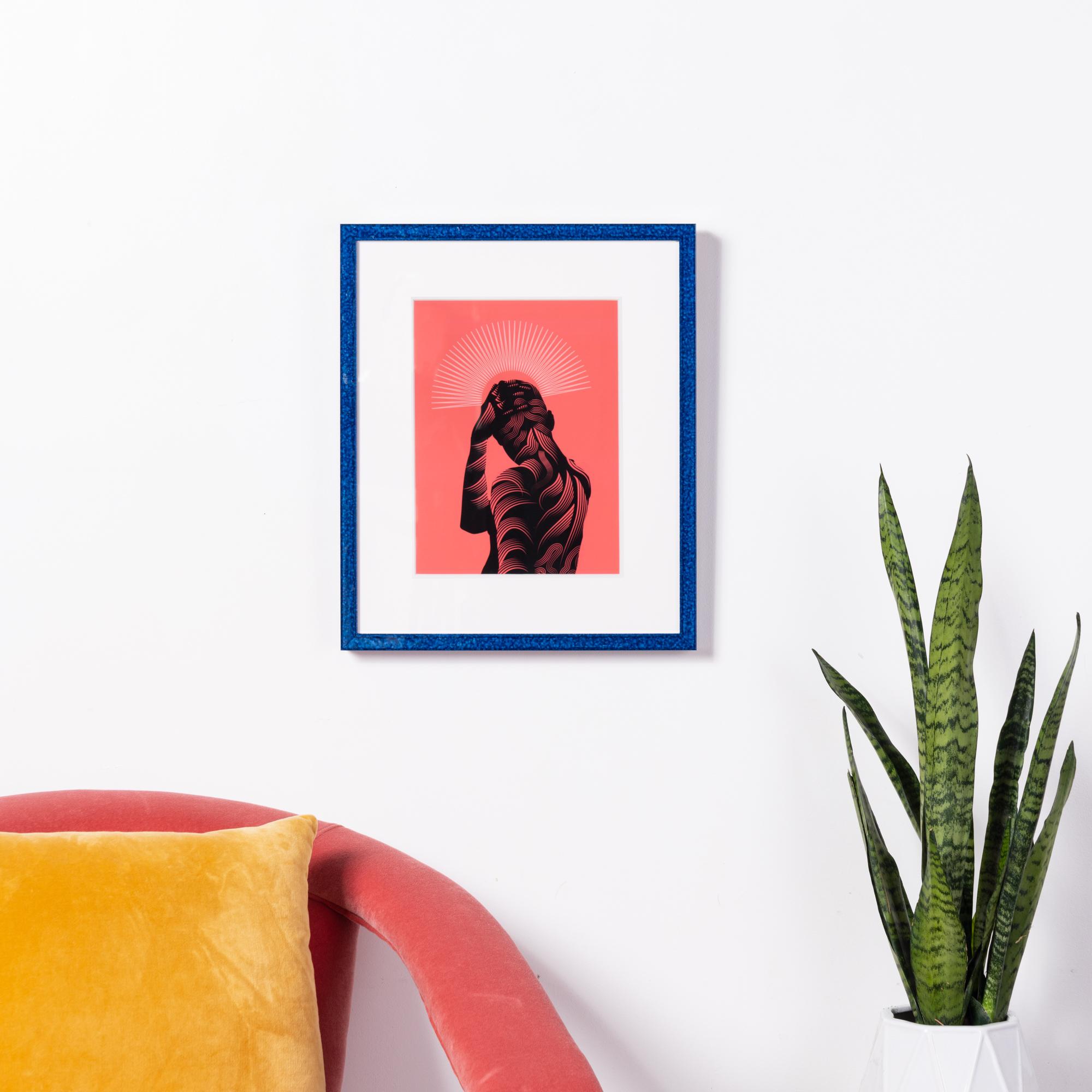 Framebridge Black Artists Print Shop Neka King All Things In Time framed print Santorini frame