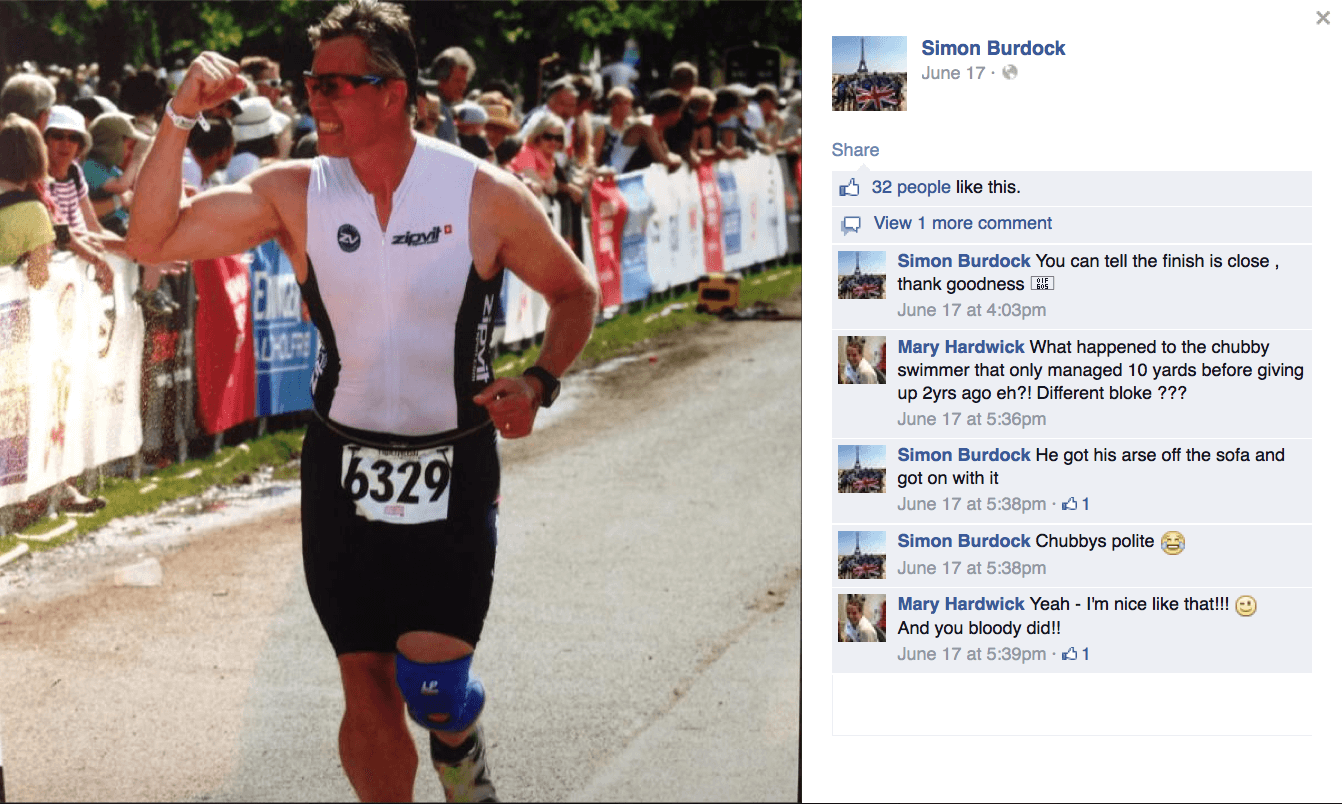 a Facebook conversation between an age-group triathlete and his Endless Pools swim coach