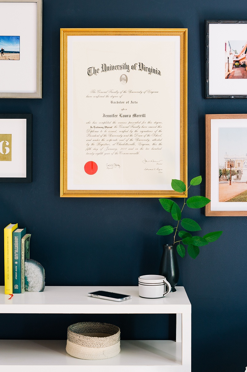 Diploma gold Georgetown frame