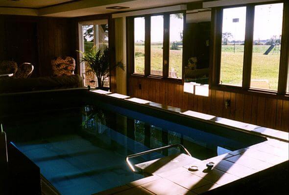 The Original Endless Pool in Linda Bain's sunroom