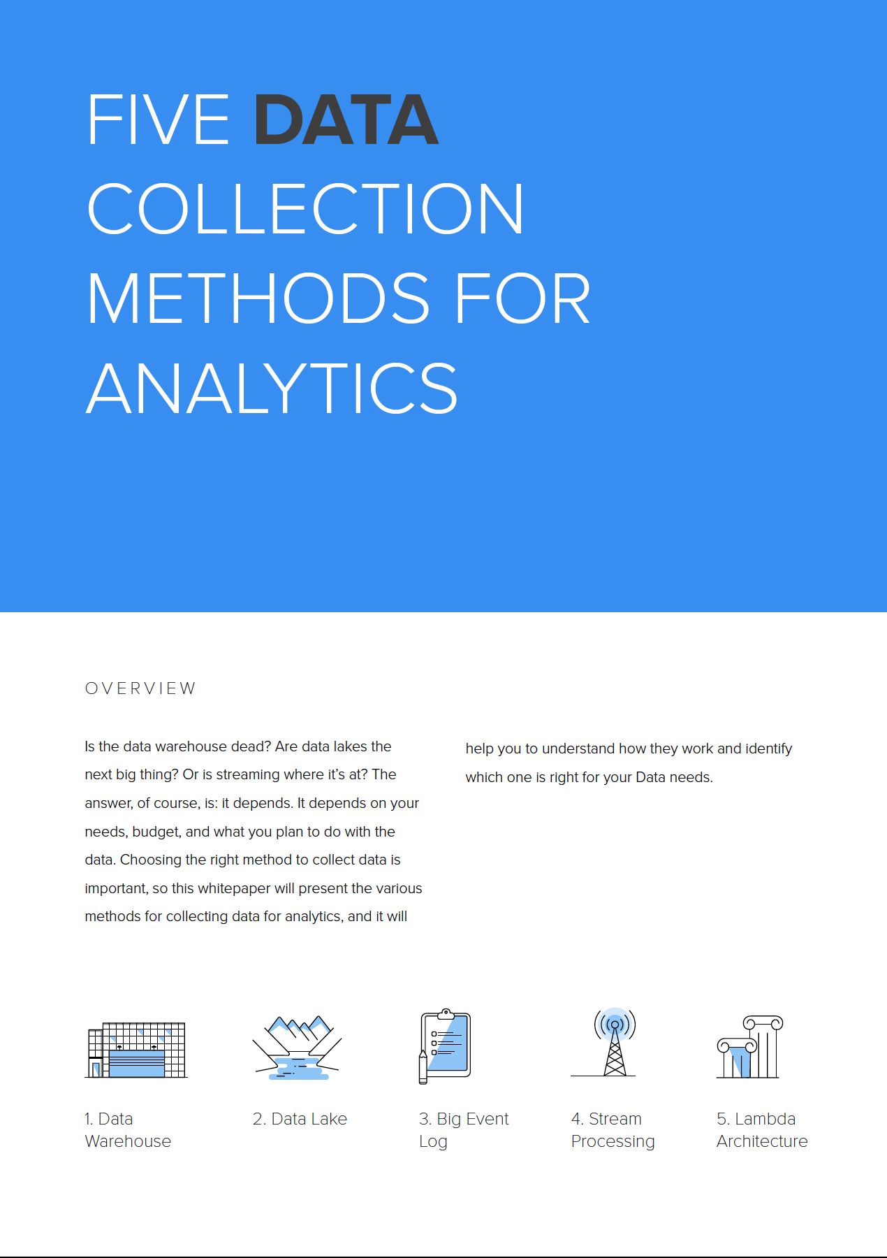 5 Data Collection Methods for Analytics
