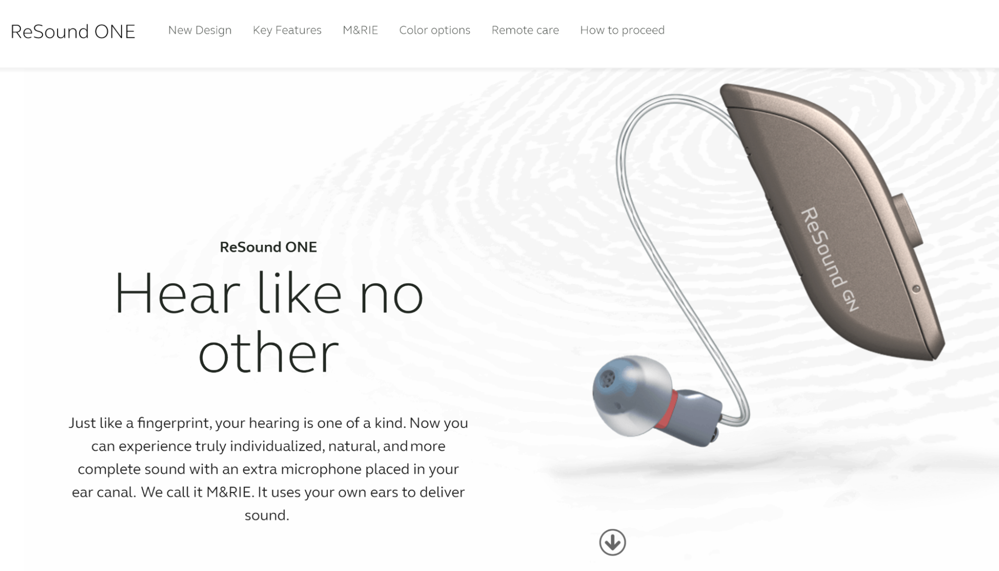 Hearing Care Solutions: ReSound ONE preview description