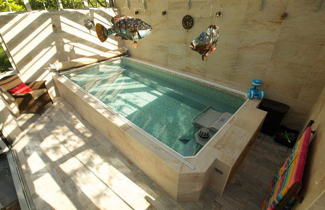 an award-winnning Endless Pools swimming machine installation