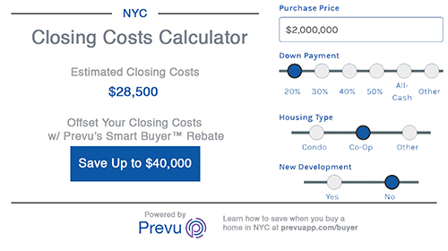 Closing Costs Calculator for NYC Buyers